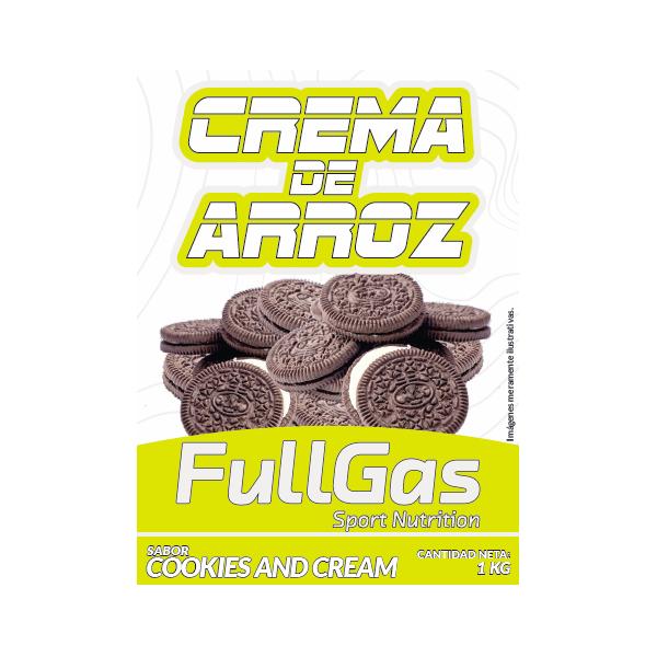CREMA DE ARROZ Cookies and cream 1kg