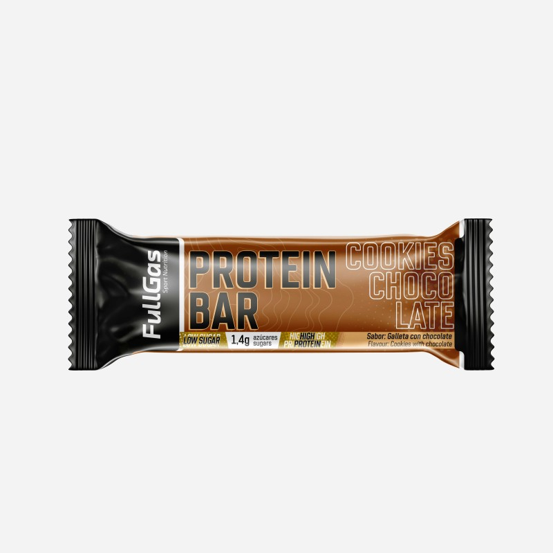 PROTEIN BAR - Low sugar - Cookies con chocolate 35g