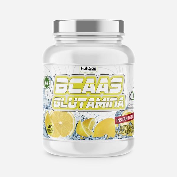 BCAAS + GLUTAMINA Limón 500g